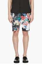 3.1 PHILLIP LIM Navy New Wave Print Shorts for men
