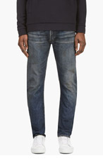 BALMAIN Slim Fit Washed & Distressed Jeans for men