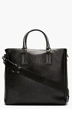DOLCE & GABBANA Black Pebbled Leather Tote for men