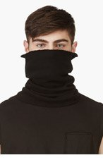 JULIUS Black convertible hat and scarf for men