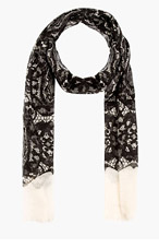 ALEXANDER MCQUEEN SKULL LACE SCARF for men
