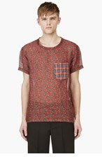 MARC JACOBS Red Floral Print T-Shirt for men