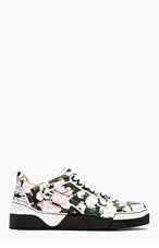 GIVENCHY Black & Pink Floral print tyson Sneakers for men