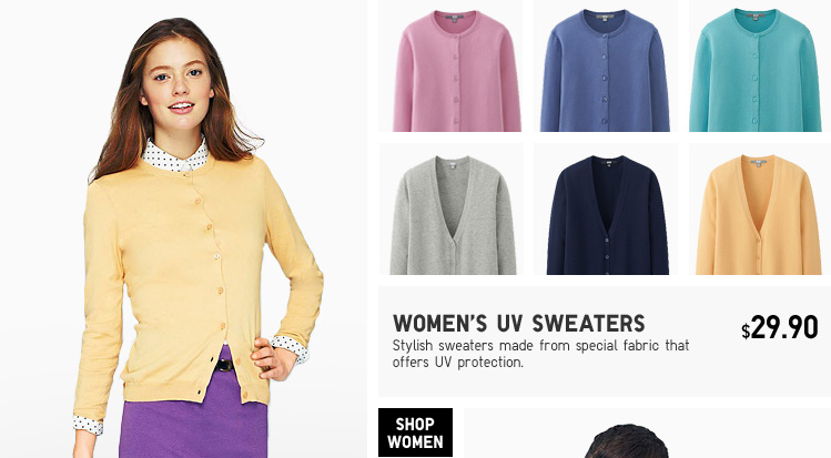 WOMEN'S UV SWEATERS