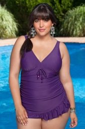 Always For Me Chic Solids Barcelona 1 Piece Swimsuit #80874wa - PLUM $44.50