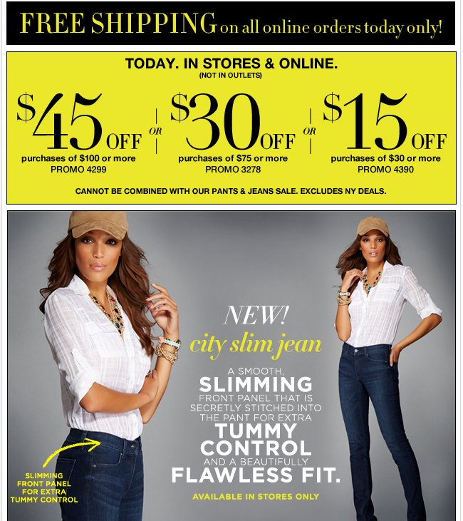Save Up to $45 In Stores & Online!
