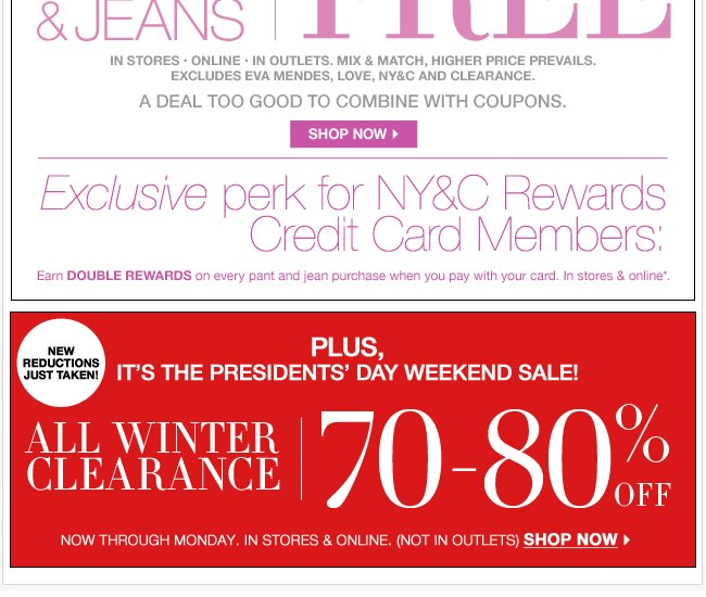 Winter Clearance - Up to 80% Off!
