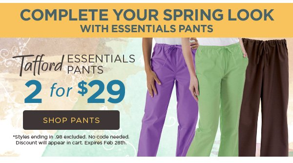 Tafford Essentials Pants 2 for $29 - Shop Now