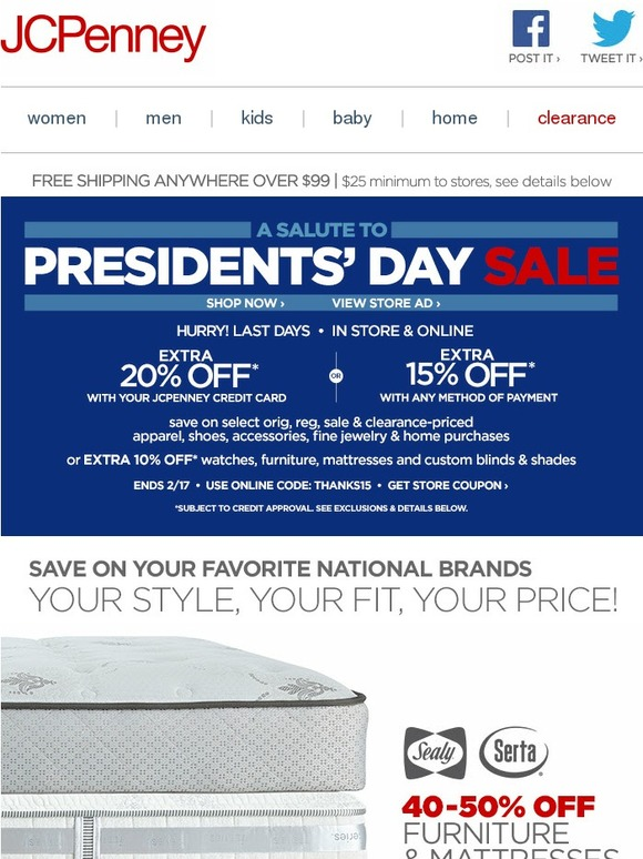 JC Penney: Brands You Want. Fits You Need. Prices You Love