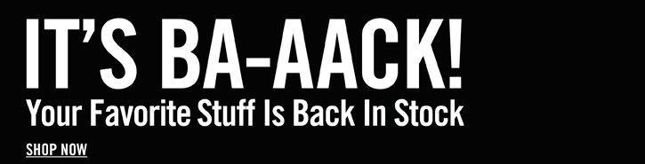 IT'S BA-AACK!