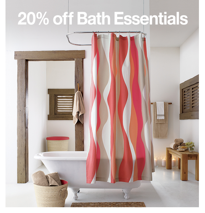 20% off Bath Essentials