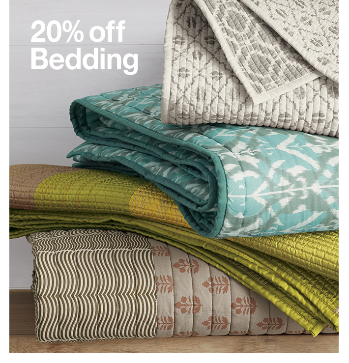 20% off Bedding