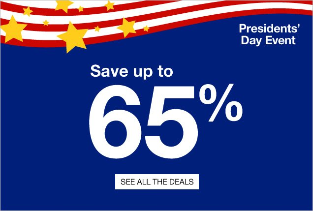 Save up to 65%. Presidents Day  Event. See all the deals.