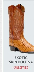 Mens Exotic Skin Boots