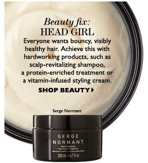 BEAUTY FIX: HEAD GIRL. SHOP BEAUTY