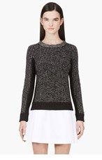 RAG & BONE Black & Grey Paula Pullover Sweater for women