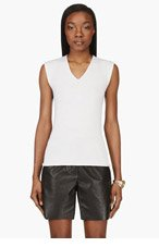 CALVIN KLEIN COLLECTION Ivory Knit Melissa Tank Top for women