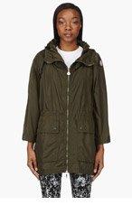 MONCLER Olive Hooded Charbon Jacket for women