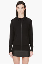 Y-3 Black Floating Trim Hooded Sweater for women