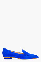 NICHOLAS KIRKWOOD Electric Blue Suede prism-heeled Loafer for women