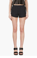 MARC BY MARC JACOBS Black Jacquard Leyna Dotty Ponte Shorts for women