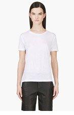 J BRAND White Slub Kiki T-shirt for women