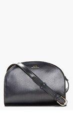 A.P.C. Navy Half Moon Shoulder Bag for women
