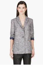 MARC BY MARC JACOBS Silver Marled Lurex Tweed Blazer for women