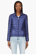 MONCLER Indigo blue Quilted down Lans Jacket for women
