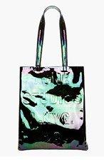ACNE STUDIOS Black Iridescent Patent Leather Rumor Tote Bag for women