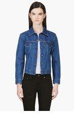 LEVI'S VINTAGE CLOTHING Blue Denim 1970's Trucker Jacket for women