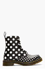 DR. MARTENS Black Polka Dot Chay 8-Eye Ankle Boots for women