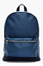 A.P.C. Navy Suede-trimmed Classic Backpack for women