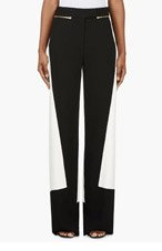 CALVIN KLEIN COLLECTION Black & White Colorblocked Pants for women