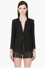 HELMUT LANG Black Cropped Sleeves Blazer for women