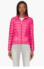 MONCLER Fuchsia quilted down Lans Jacket for women
