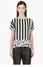 KENZO Black & grey Striped Palm Tree t-shirt for women