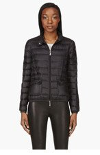 MONCLER Black quilted down Lans Jacket for women