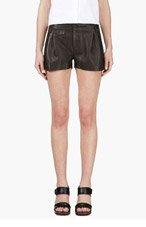 RAG & BONE Black Lambskin Tennis Shorts for women