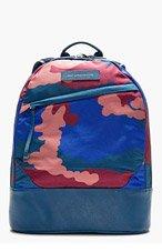 WANT LES ESSENTIELS DE LA VIE Blue & Burgundy Camo Backpack for women