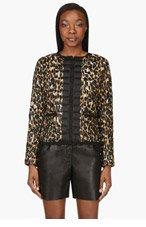MONCLER Black & Tan Animal spot Soufre Jacket for women