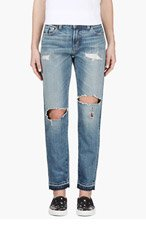 LEVI'S VINTAGE CLOTHING Blue Customized Abe 505 Jeans for women