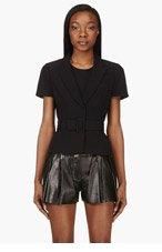 ALEXANDER MCQUEEN Black Short Sleeve Bar Jacket for women