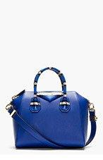 GIVENCHY Blue Leather Antigona Small Duffle Bag for women