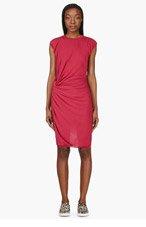 LANVIN Fuchsia Side-Twist Cocktail Dress for women