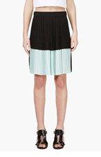 KENZO Black & mint Pleated Shorts for women