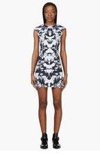 MCQ ALEXANDER MCQUEEN Grey Contoured Bird Print Dress for women