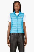 MONCLER Turquoise Quilted Down Liane Vest for women