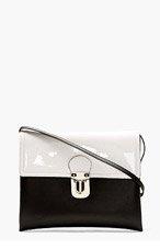 MARNI EDITION Black & White Eco-Leather Shoulder Bag for women