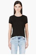 J BRAND Black Slub Kiki T-shirt for women